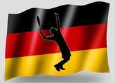 Country Flag Sport Icon Silhouette German Tennis — Stock Photo