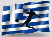 Country Flag Sport Icon Silhouette Greece Soccer — Stock Photo