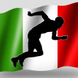 Country Flag Sport Icon Silhouette Italian Athletics — Stock Photo