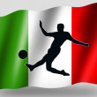 Country Flag Sport Icon Silhouette Italian Soccer — Stock Photo