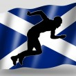 Country Flag Sport Icon Silhouette Scottish Athletics — Stock Photo