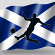 Foto de Stock  : Country Flag Sport Icon Silhouette Scottish Soccer