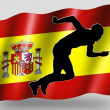 Stock Photo: Country Flag Sport Icon Silhouette Spanish Athletics