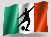 Kicker lugar de country bandeira esporte ícone silhueta irlandesa de rugby — Foto Stock