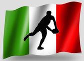 País bandera deporte icono silueta rugby italiano pase — Foto de Stock