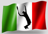 Country Flag Sport Icon Silhouette Italian Tennis — Stock Photo