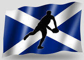 Country Flag Sport Icon Silhouette Scottish Rugby Pass — Stock Photo