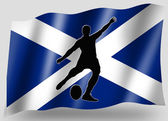 Country Flag Sport Icon Silhouette Scottish Rugby Place Kicker — Stock Photo