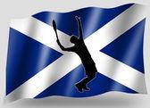 страны флага спорт значок силуэт шотландский теннис — Стоковое фото