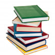 Stacking of high level books — Stock Photo
