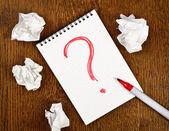 Büyük soru — Stok fotoğraf