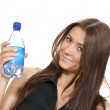 Woman with pure still drinking water — Stock Photo