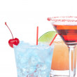 Margarita, martini cocktail, tequila sunrise — Stock Photo #7519684
