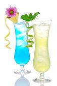 Cocktails margarita martini row with vodka — Stock Photo