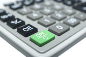 Calculatormacro isolated on white. Clipping Path. — Stock Photo