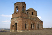 Old church destroyed in second world war. Rostov-on-Don, Russia. — Stock Photo