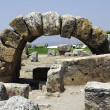 Stock Photo: Ruins of ancient city Heirapolis near Pamukkale, Turkey.