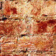 Stock Photo: Red wall made of bricks. Abstract Background.