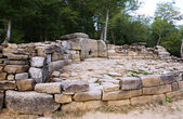 Dolmens near Black Sea. Very old monument made of stone. — Stock Photo