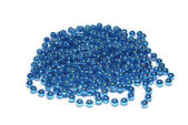 Blue christmas beads isolated on white background. — Stock Photo