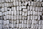 Stack of gray bricks. Abstract textured background. — Stock Photo