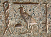Pharaoh language scribes on marble stone in Cairo. Egypt backgro — Stock Photo