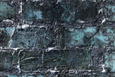 Abstract grunge blue wall made of bricks. Textured background. — Stock Photo
