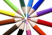 Colored pencils isolated ob white background. — Stock Photo