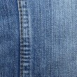 Blue jeans with yellow stitches vertically. Can be used as backg — Stock Photo
