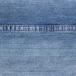 Blue jeans with yellow stitches background. — Stock Photo #7915445