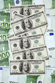 Concepto de moneda euro vs dólar. — Foto de Stock