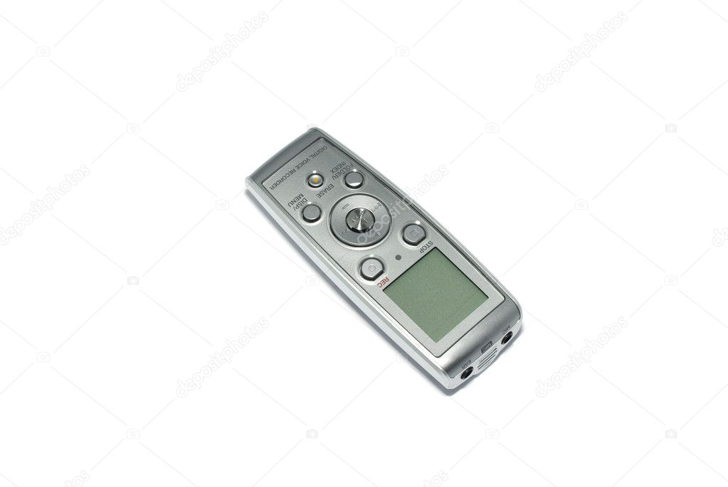 Digital voice recorder isolated on white background.  Stock Photo #7913167
