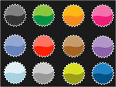 Set of empty vector tags for price or another design. — Stock Vector