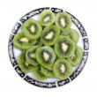 Studio shot of sliced fresh kiwi isolated on white background. — Stock Photo #7949565