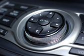 Modern control interface. Interior of luxury japanese car. — Stock Photo