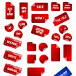 Big collection of vector sticky price labels for marketing and a — Stock Vector #7943086