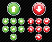 Set of vector direction buttons with arrows. Easy to edit, any s — Stock Vector