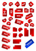 Big collection of vector sticky price labels for marketing and a — Stock Vector