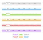 Uppsättning vektor navigering mallar. olika färger. lätt att ed — Stockvektor
