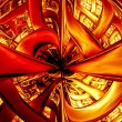 Stock Photo: Abstract digitally rendered inferno gate. Good as background or