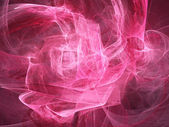 Digitally rendered abstract pink fractal storm. As background or — Stock Photo
