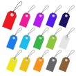 Set of multicolored vector tags for marketing design. Perfect us - Stock vektor