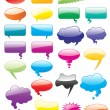 Royalty-Free Stock Vector Image: Collection of colored vector comics shapes. Add text, easy to ed