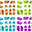Stock vektor: Collection of multicolored vector sticky marketing labels. Perfe
