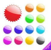 Multicolored glossy web elements. Perfect for text or icons. Vec — 图库矢量图片