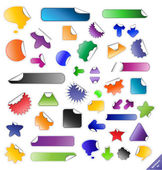 Collection of sticky web elements. Perfect for adding text or ic — Stock Vector