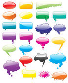 Collection of colored vector comics shapes. Add text, easy to ed — Stock Vector