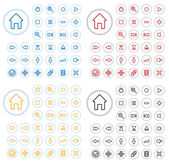 Collection of vector audio buttons. Easy to edit, any size, diff — Stockvektor