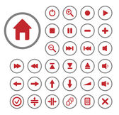 Collection of vector audio buttons. Easy to edit, any size. — Stock Vector