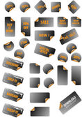 Collection of promotion vector labels. Different shapes, easy to — Stock Vector